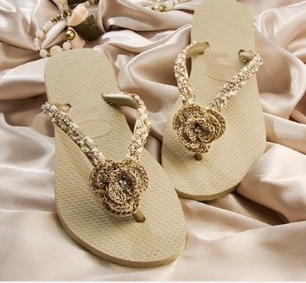 Chinelo de croche Como decorar chinelos com crochê***************+++++++++++++