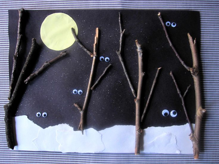 Lavoretti Halloween: un paesaggio mostruoso - Nighttime creatures craft...nocturnal animals craft