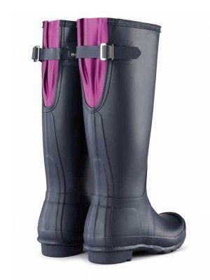 Original Back Adjustable Rain Boots | Wellies | Hunter Boots.  Wellies for wide calf girls.