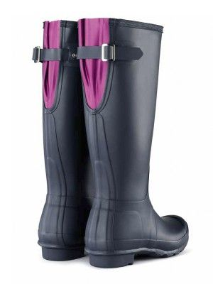 Original Back Adjustable Rain Boots | Wellies | Hunter Boots. Wellies for wide calf girls.
