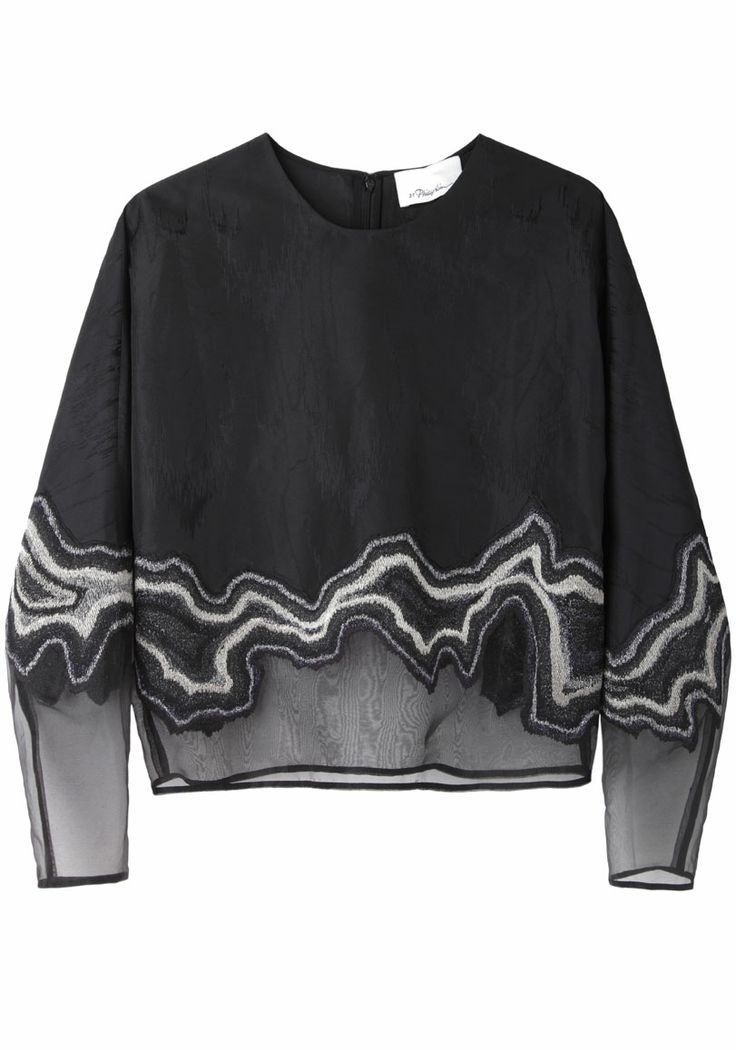 3.1 Phillip Lim  Embroidered Organza Top  |   La Gar�onne | La Garconne