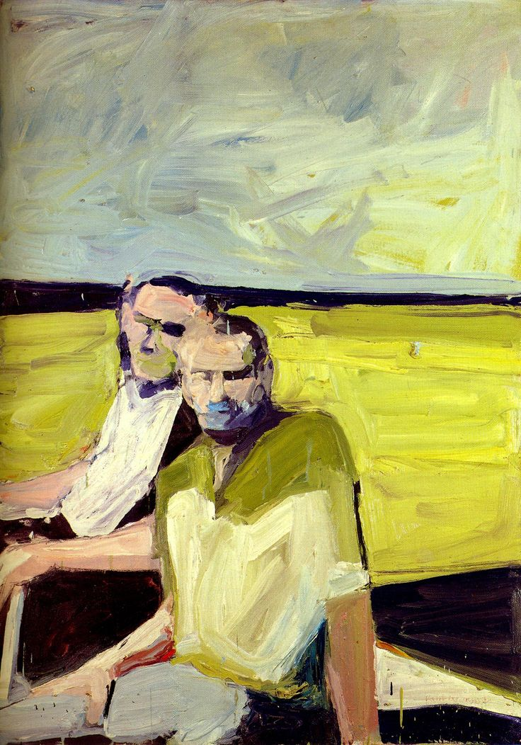 Paul Wonner rose to prominence in the 1950s as an abstract expressionist associated with the Bay Area Figurative Movement, along with his partner, Theophilus Brown (1919-2012), whom he met in 1952 while attending graduate school. In 1956, Wonner started painting a series of dreamlike male bathers and boys with bouquets.