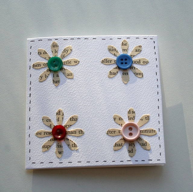 Too cute! Wordy flower cards - set of 5 upcycled notecards: Wordy Flower, Upcycled Notecards, Flower Cards, Photo