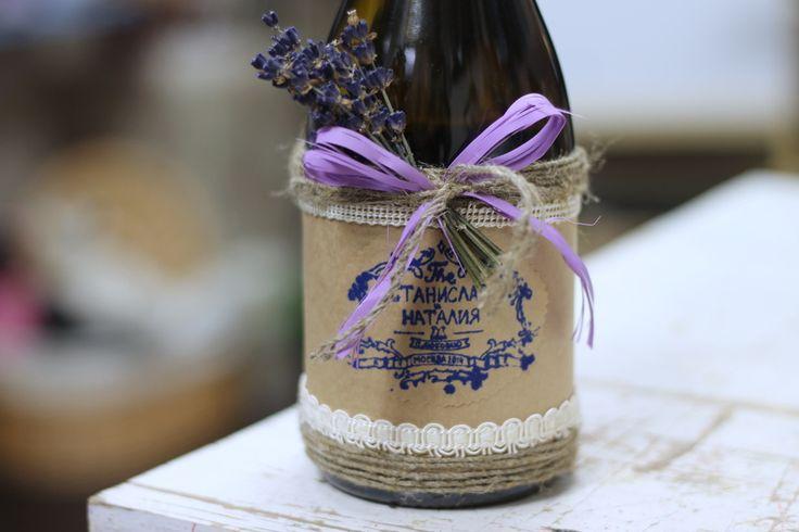 декор бутылки шампанского, Свадебное оформление и флористика, Украшение зала на свадьбу