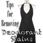 Removing Deodorant Stains