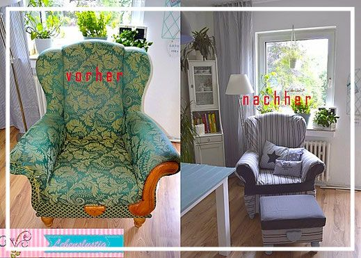 ein neues Kleidchen für den alten Sessel Blog - Lebenslustig das Nähparadies