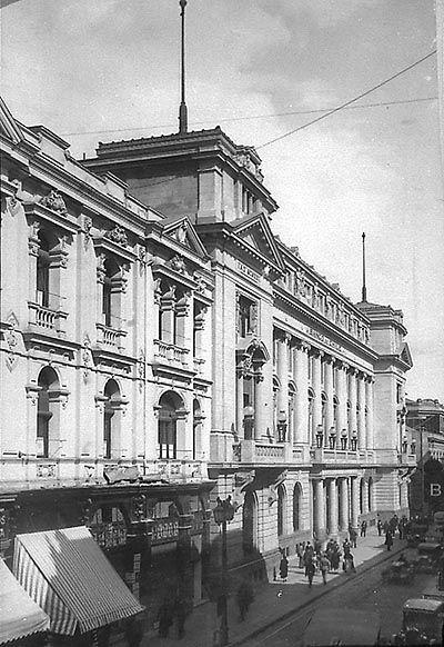 """""""Calle Ahumada, Banco Chile"""" (ca 1920-1930)"""