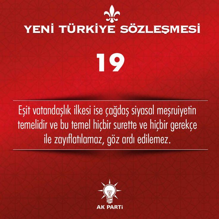 19.Madde, #YeniTürkiyeSözleşmesi