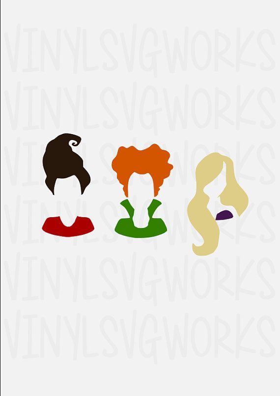 Hocus Pocus Sisters Only SVG FILE by VinylSVGWorks on Etsy