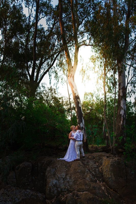 Wedding photo idea on rocks Photographer Daniel L Meyer