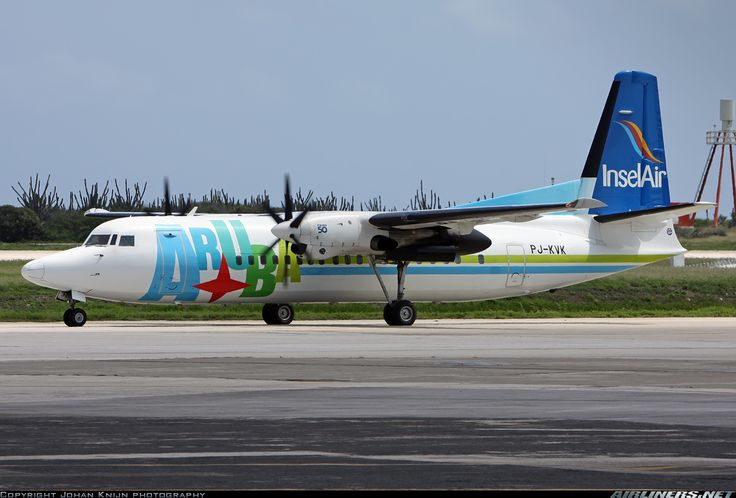 Fokker 50 aircraft picture.  Insel Air Aruba Fokker 50  Willemstad / Curacao - Hato (CUR / TNCC) Curacao, September 20, 2013