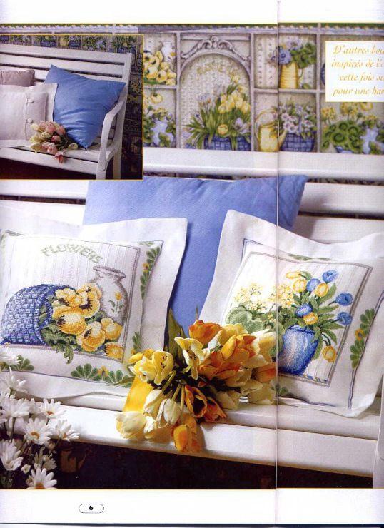Gallery.ru / Фото #5 - Подушки- синие и желтые тюльпаны - Egira