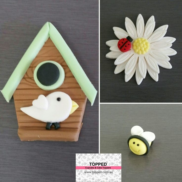 Sweet Garden Toppers - Edible cupcake topper and cake decorations
