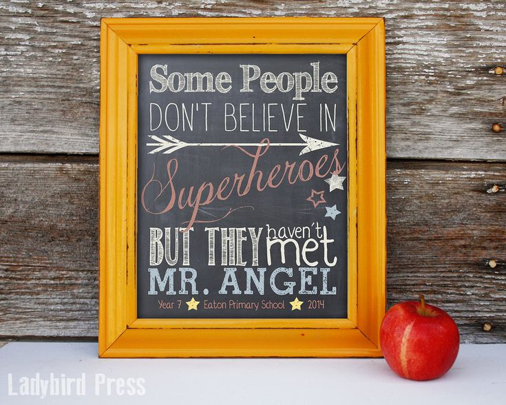 Super cute 'Super Hero' personalized teacher gift!  This would be perfect for any teacher, but especially male teachers!