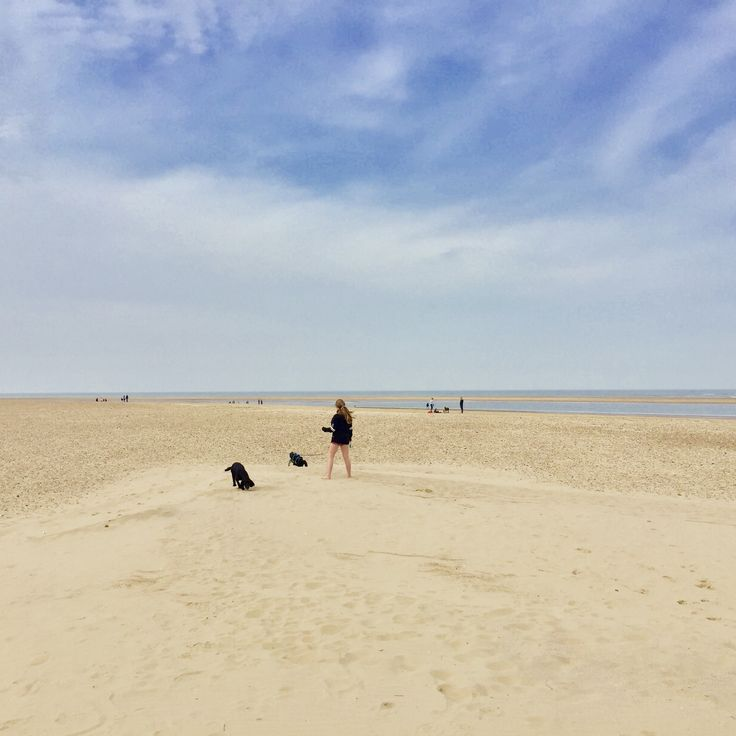 Beautiful Brancaster Beach, miles of dog friendly sandy beaches and often no one else in sight!