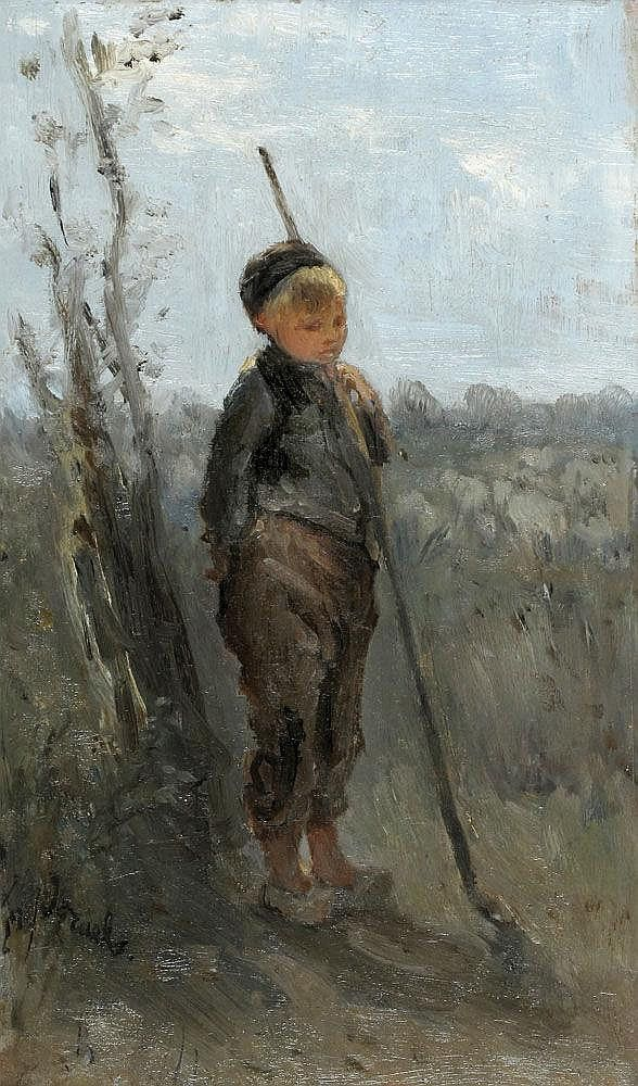 Jozef Israëls - De kleine herder