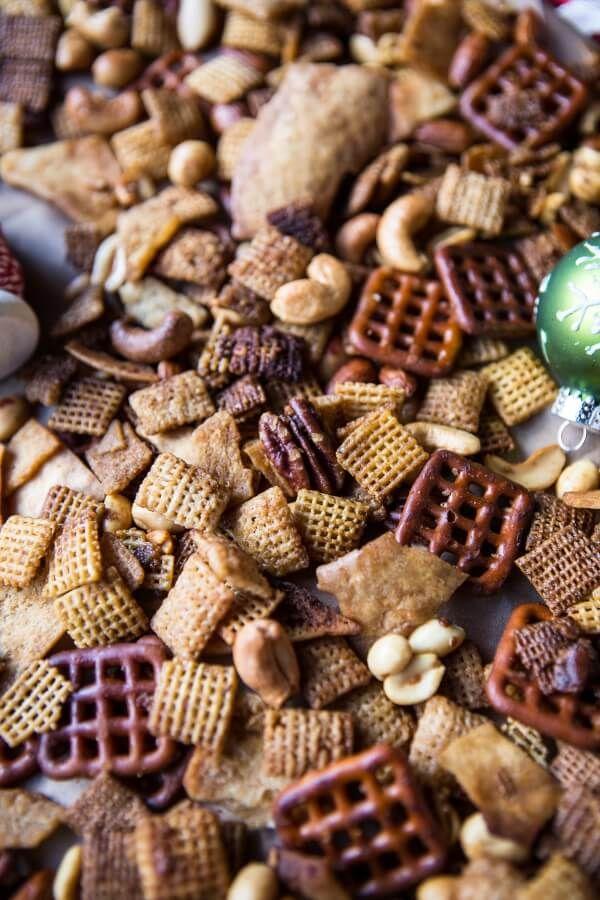 Easy Crockpot (Christmas Eve) Chex Mix   halfbakedharvest.com @hbharvest