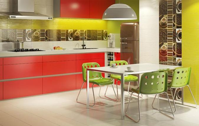 Nowoczesna kuchnia.   kolor, energia, modern, inspiracja ,kuchnia, Paradyż    http://www.paradyz.com/plytki/kuchenne/vivida-vivido-1  https://www.facebook.com/CeramikaParadyz