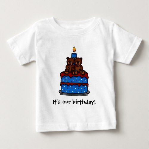 Twin boys Birthday t-shirts