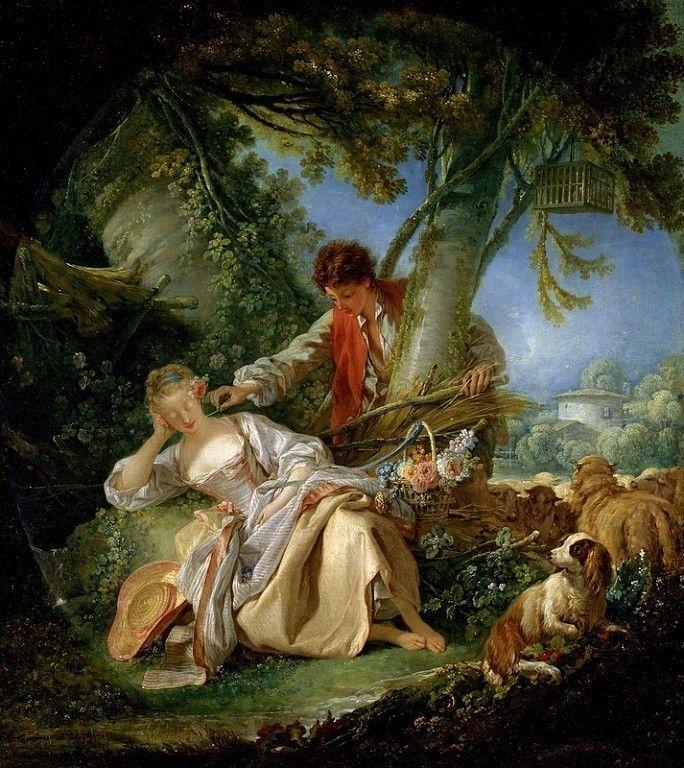 Франсуа Буше (1703-1770).Прерванный сон.1750.Музей Метрополитен,Нью-Йорк