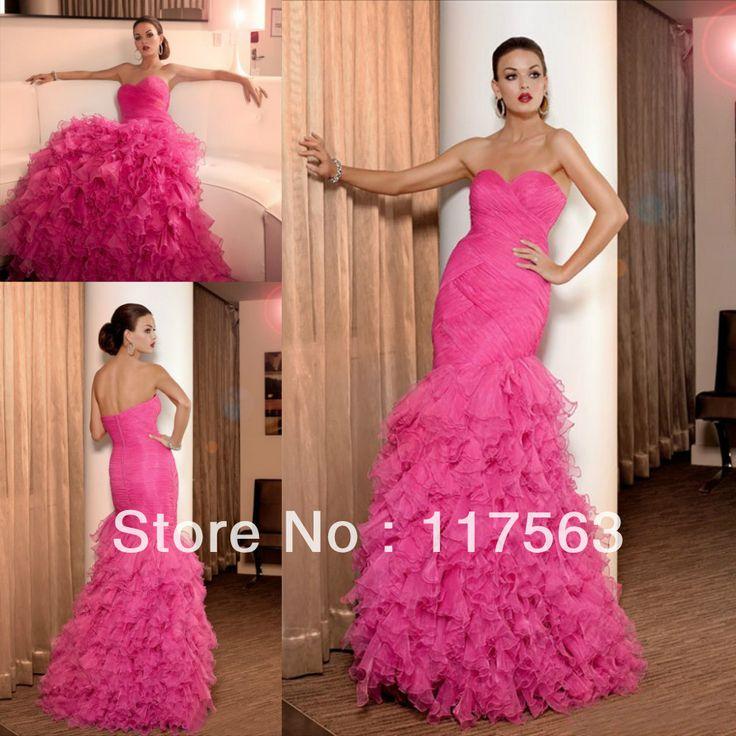 Красивый дизайн! Розовый бальное платье милая лиф корсет органзы длинные платья выпускного вечера WH372