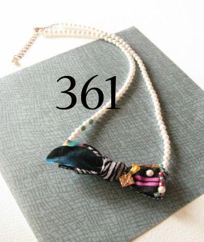 arlequin 団長の蝶ネクタイ 361 necklace〜シルクハットに長い髪の毛  小鳥がブラウスにとまると蝶ネクタイに変わった☆〜  アニマルを愛する...|ハンドメイド、手作り、手仕事品の通販・販売・購入ならCreema。