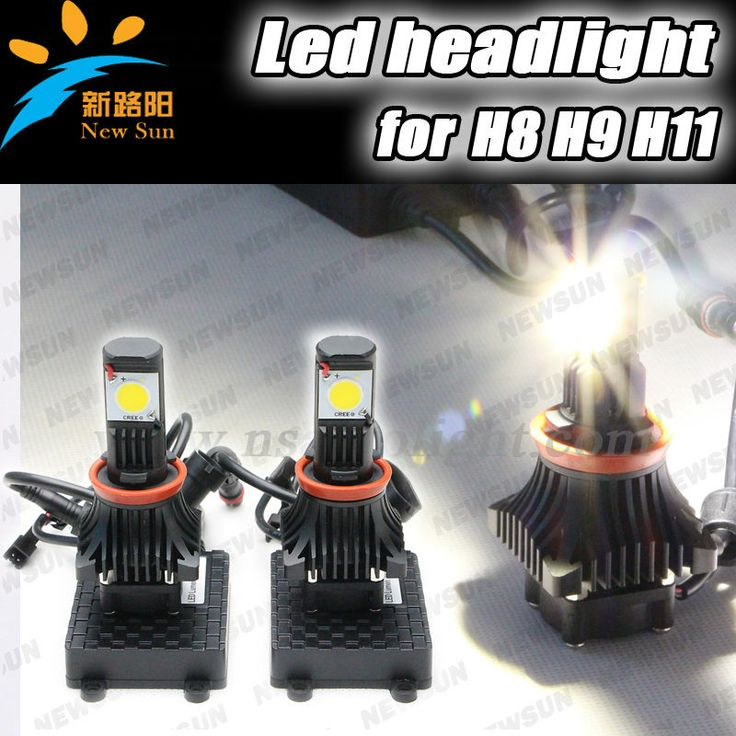 Free replacement H8 led headlight car lamp 12v 24v auto H8 led headlamp 1800lm 25w led headlight for truck motorcycle vehicle