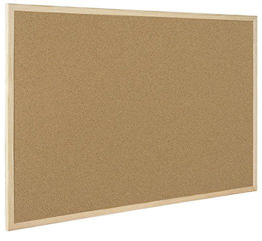 Bi-Office Économique Tableau d'affichage en liège 900 x 600 mm Naturel