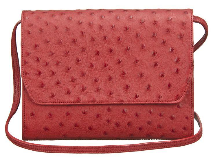 Khari Bag Wembley / Material Ostrich Leather / Dimensions: w23 x h18 x d2