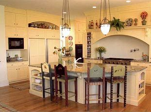 Love the arch over the stove!