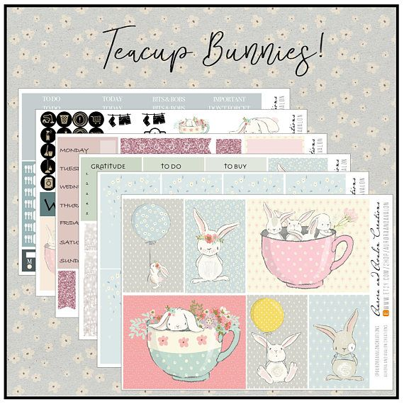 Teacup Bunnies weekly kit for HP Big HP and EC formats
