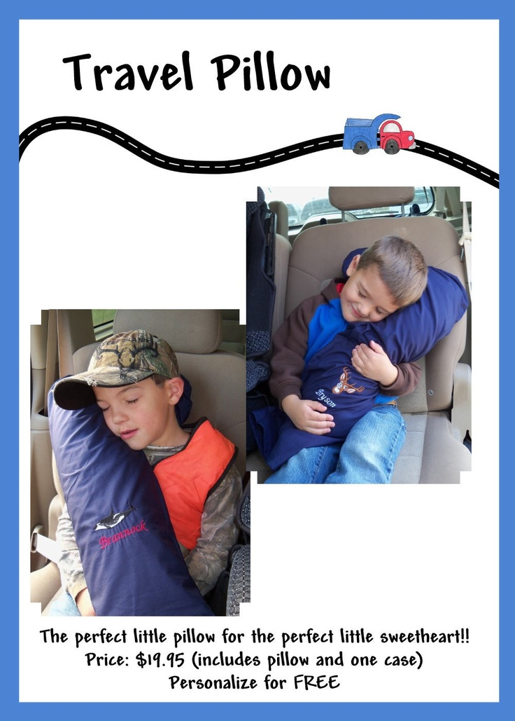 Travel PIllow that velcros to the seat belt