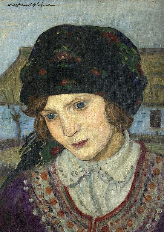 Wlastimil Hofman(Polish,1881-1970), oil on canvas.