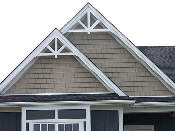 Gable accent fypon gpf66x33 12 12 roof pitch for Exterior pediments