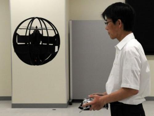 Japanese inventor develops flying sphere drone #drones
