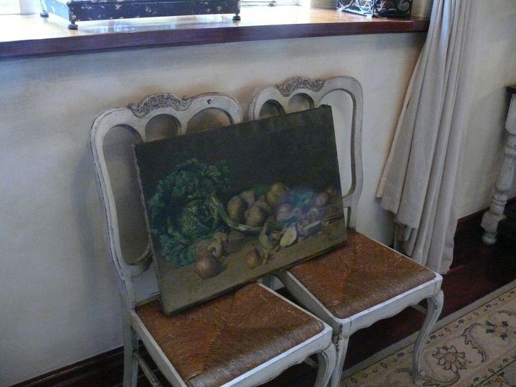 Oil painting and French chairs