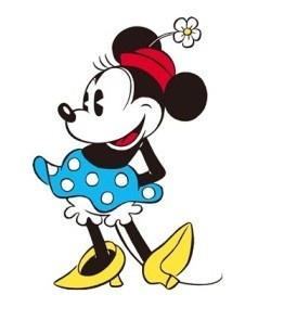 """Pierwsza postać Myszki Minnie została zaprojektowana w stylu lat 20. Minnie nosiła wtedy żeńską wersję melonika ze stokrotką, utożsamiała tzw. """"styl chłopczycy"""" (flapper), zapoczątkowany przez Coco Chanel. Chłopczyce prowadziły niezależny, jak na tamte czasy, styl życia. Ich ubiór był także mocno """"chłopięcy"""". Copyright ©Disney"""