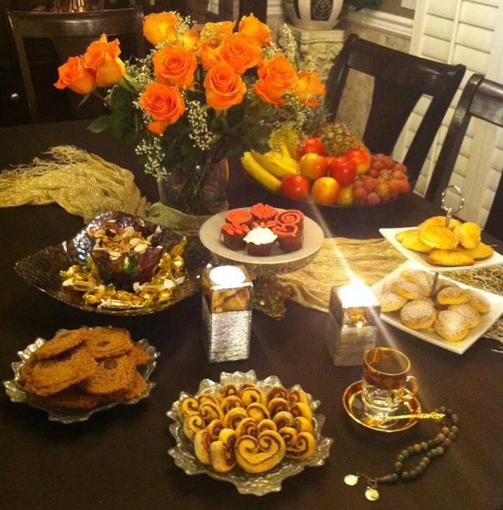 Arabic sweet table. Happy Eid..