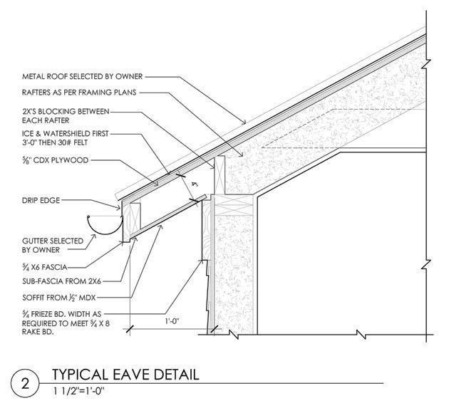 Construction Documents Eave Detail En 2019