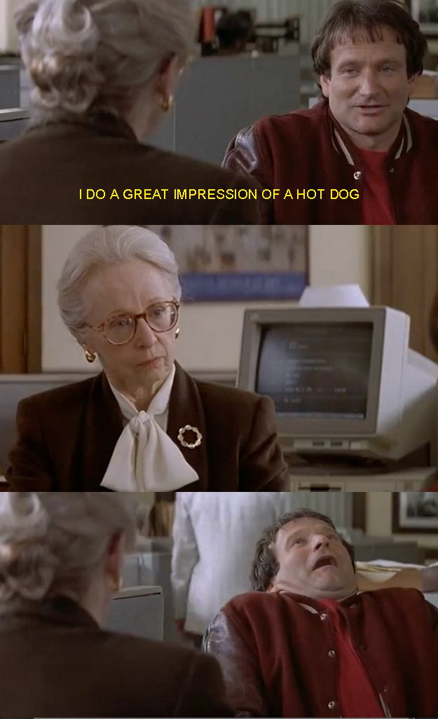 So the main character is a master of disguises who is able to conceal himself behind a number of personalities. - Mrs Doubtfire, creepy as fook film