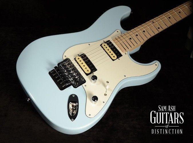 gj2 guitars glendora floyd rose hh electric guitar baby blue sn g49381 guitars of. Black Bedroom Furniture Sets. Home Design Ideas