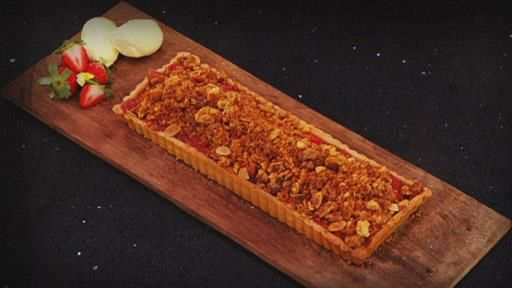 Apple and Strawberry Crumble Tart | MasterChef Australia #masterchefrecipes