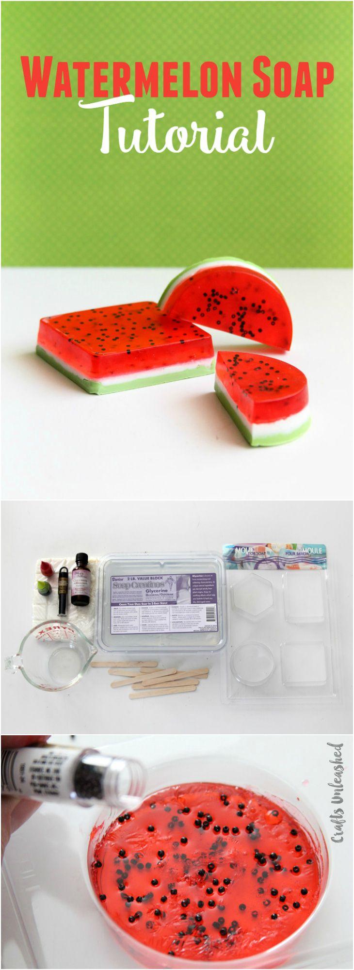 DIY Watermelon Soap Recipe