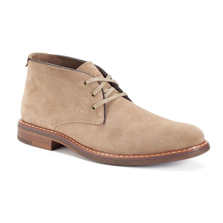 Chaps Vanderbilt Men's Suede Chukka Boots, Size: medium (8), Lt Brown