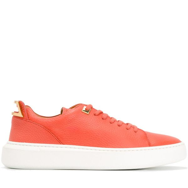 Buscemi lace-up sneakers (741 CAD) ❤ liked on Polyvore featuring shoes, sneakers, pink, leather lace up shoes, lace up sneakers, pink leather shoes, leather trainers and lacing sneakers