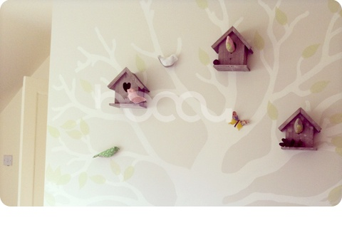 Woodland/Belle & Boo bedroom in progress! This is the tree wall so far.