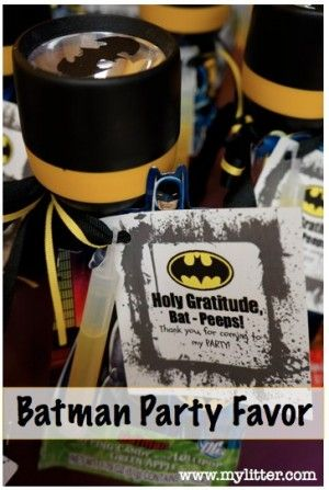 A Batman Birthday Party for kids and my Batman Party Favors! http://mylitter.com/craft/a-batman-birthday-party-for-kids-and-my-batman-party-favors/
