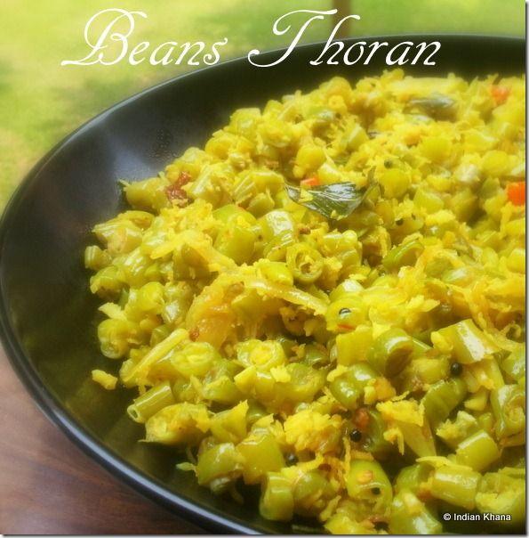 Indian Khana: Beans Thoran | Poriyal | Onam Sadhya Recipes