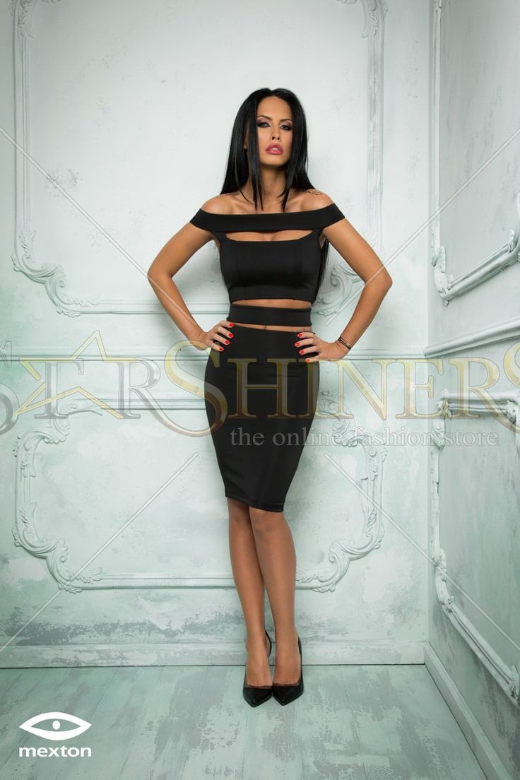 Mexton Interesting Woman Black Dress