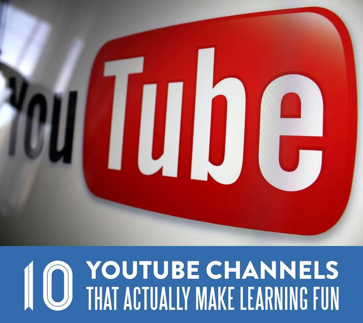 10 Youtube Channels that Actually Make Learning Fun. Check out these channels with your kids and share what you learn!